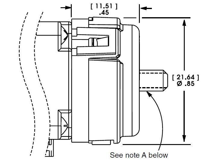 Size 8 Linear Actuator Encoder